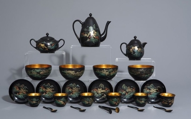 An extensive Chinese Foochow lacquer Shen Shao'an style...
