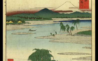 Ando Hiroshige - The Jewel River in Musashi Province