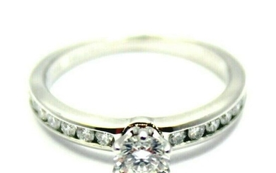 Authentic Tiffany & Co. Platinum 0.51ctw Diamond E/VS1