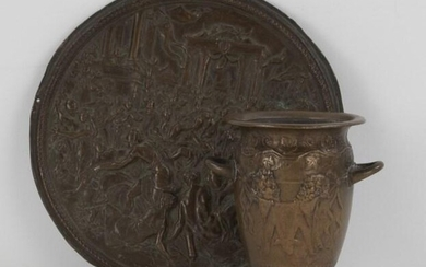 Barbedienne Bronze Urn & Bronze Rape of Sabine