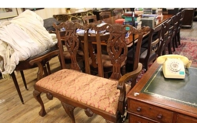 Chippendale Style Hardwood 2 Seat Chair