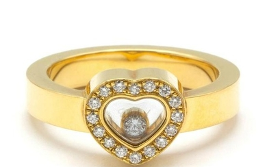 Chopard Happy Diamonds yellow gold ring