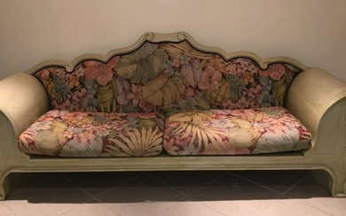 Custom Carved Plantation Style Oversized Couch
