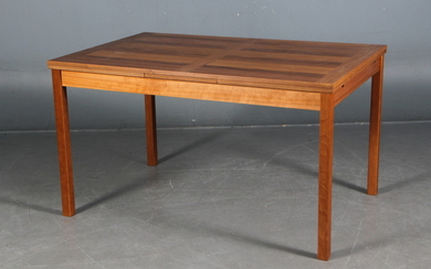 Danish furniture producer. Rectangular teak dining table with extension