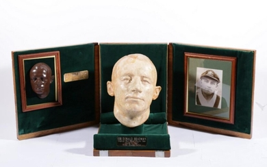 Don Bradman Lifemask 1930. The original lifemask of the Don as produced by Thelma Dahle on Bradman's return from his record-breaking...
