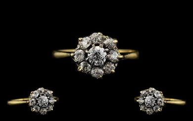 Edwardian Period - Excellent Quality Diamond Set Cluster Rin...