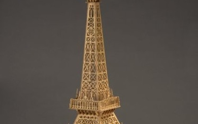 Eiffel Tower in two parts acting as a...