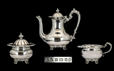 Elizabeth II - Superb Quality Sterling Silver 3 Piece Coffee...