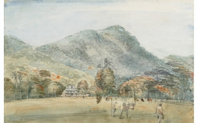 English School, 1849, St Ann's from the Savannah, Trinidad; and The Governor's Residence, St Ann's, Trinidad