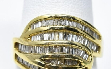 Estate 14k Yellow Gold 1+ Carat Diamond Ring