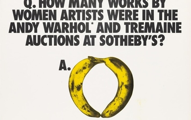 GUERRILLA GIRLS Q HOW MANY WORKS BY WOMEN ARTISTS WERE IN TH