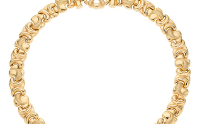 Gold Necklace The 14k gold necklace weighs 53.50 grams....