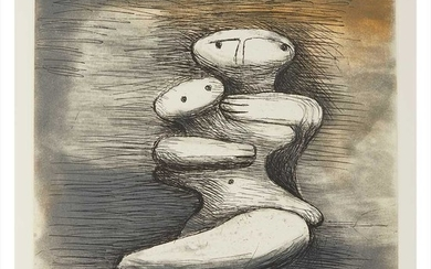§ Henry Moore O.M., C.H (British 1898-1986) MOTHER AND CHILD XVII, FROM MOTHER AND CHILD