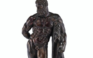 ITALIAN, AFTER THE ANTIQUE, POSSIBLY LATE 16TH CENTURY/ EARLY 17TH CENTURY, A BRONZE FIGURE OF THE FARNESE HERCULES