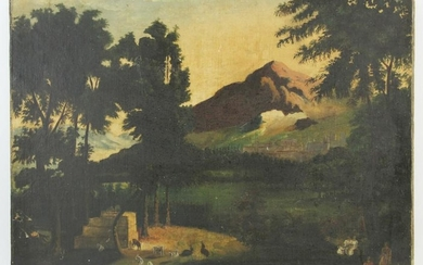 In the Manner of Chambers, Landscape, Oil on Canvas