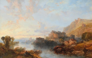 James Duffield Harding OWS(1797-1863) A continental river landscape...
