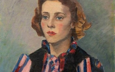 Jan Wiegers (1893-1959), Portrait of a young woman...