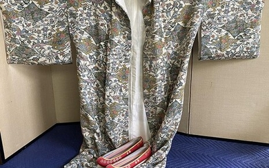 Japanese Women's Kimono and Pair of Shoes, RM2A