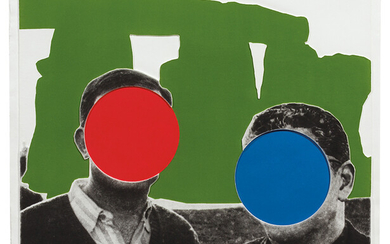John Baldessari: Stonehenge (With Two Persons) Green