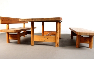 Knud Friis & Elmar Moltke Nielsen, a pair of benches and dining table (3)
