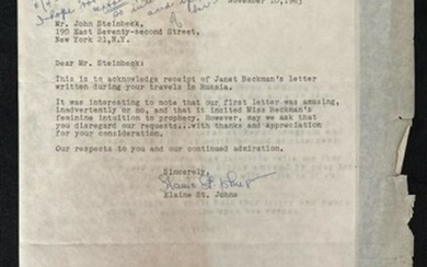 Letter to Steinbeck about Beards
