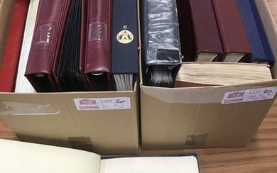 MISCELLANY OF ALBUMS & STOCK BOOKS in two cartons, incl. mou...