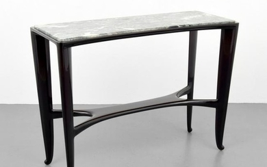 Marble Top Console Table, Manner of Paolo Buffa