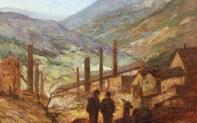 Miles Early ptg. Industrial Valley Landscape with
