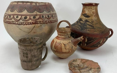 Native American Pottery Grouping