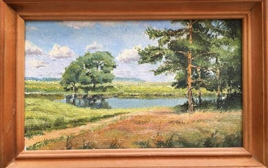 Oil painting Pleasant natural views Andrew Bagno