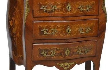 PETITE FRENCH LOUIS XV STYLE MARBLE-TOP COMMODE