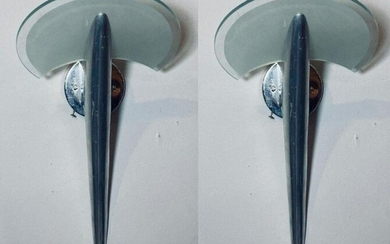 Pair Of Contemporary 80s Modern Sconces