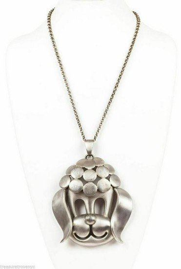 Pierre Cardin Poodle Pendant Necklace
