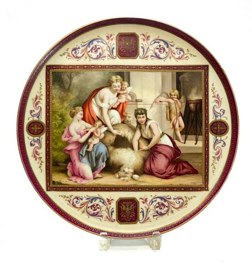 Royal Vienna Austria Hand Painted Porcelain Charger
