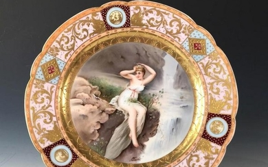Royal Vienna Hand Painted Cabinet Plate, Late 19thc.