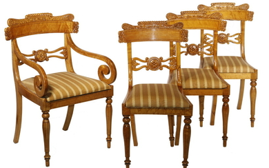 SET (8) CLASSICAL DINING CHAIRS