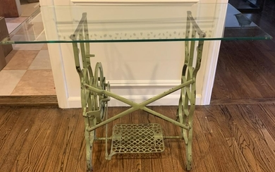 Shabby Chic Painted Antique Sewing Console Table