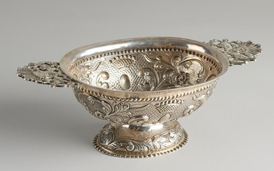 Silver brandy bowl, 925/000, decorated with curls