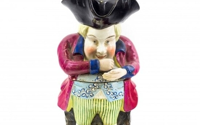 Staffordshire Pottery Antique Snuff Taker Toby Jug