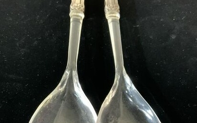 Sterling Silver & Lucite Salad Mixers