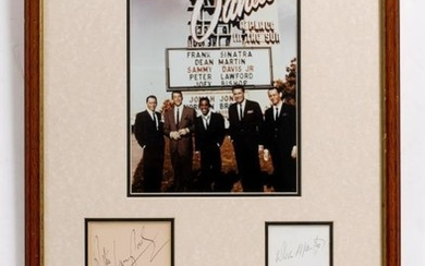 THE RAT PACK' SIGNATURES Frank Sinatra, Dean Martin, Sammy...