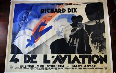 """The Lost Squadron (1932) 90.5"""" x 121.5"""" French Movie"""
