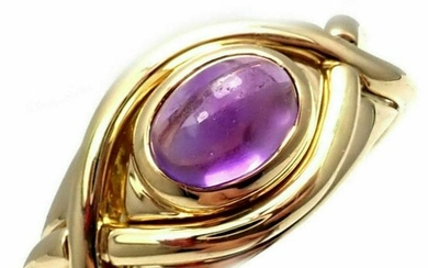 Tiffany & Co 18k Yellow Gold Amethyst Twist Band Ring