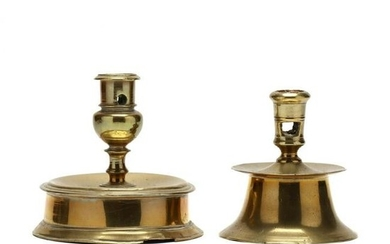 Two Early Brass Capstans