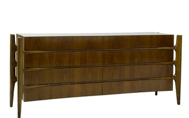 William Hinn Mid Century Modern Walnut Credenza