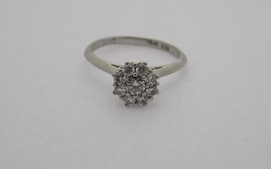 18 kt. White gold - Ring Diamond - Diamond