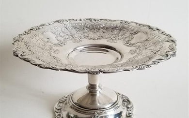 19C STERLING SILVER GORHAM TAZZA