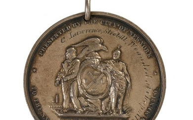 New York City Silver Mexican War Medal of C.L. Strobill
