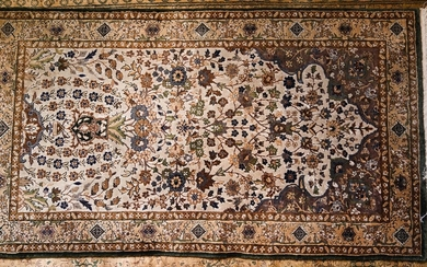 Persian-Style Hand-Knotted Silk Area Rug PK1A