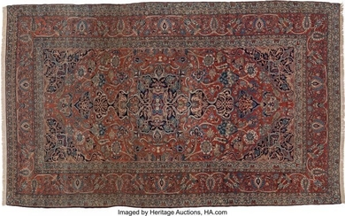61021: A Kashan Carpet, late 19th century 136 x 224 in